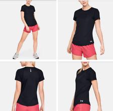 UNDER ARMOUR Women's UA Speed Stride Sport Mesh Short Sleeve, Black, Size L