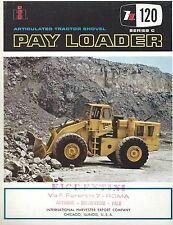Brochure - International Pay Loader H120 C  - Pala Meccanica Shovel  1967 USA