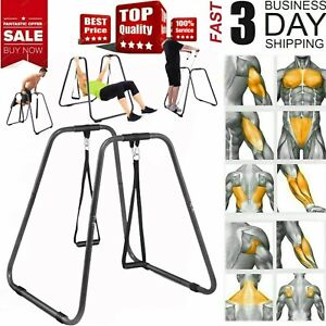 Dip Bar Station Dipping Stand Workout Fitness Exercise Home Gym Pull Up Tricep