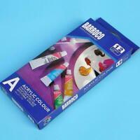 12 Color Gouache Paint Tubes Set 6ml Draw Painting Painting New Pigment G2I7