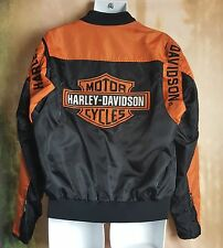 HARLEY-DAVIDSON BAR AND SHIELD BLACK & ORANGE NYLON JACKET MEDIUM