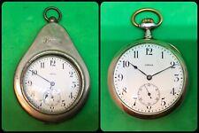 OMEGA-Pocket Watch Silver 800-vintage mechanical manual + Antique Casing-rare
