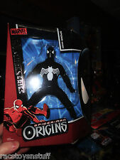 SPIDERMAN ORIGINS BLACK COSTUME SPIDERMAN 8 INCH FIGURE , CLOTH CLOTHING MIB