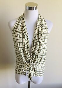 SIR The Lable Size 0 Silk Tie Front Blouse Top New