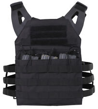 tactical light weight plate carrier vest modular black rothco 55891