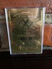 1995 Bleachers Super Bowl XXX 23kt Gold Foil Card Classic Dallas Cowboys