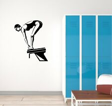 Vinyl Decal Wall Sticker Mural Diver Jumper Sport Woman Unique Gift (g076)