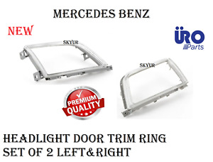 Headlight Door Trim Ring Set Of 2 Left & Right For Mercedes W129 Sl320 SL500 URO