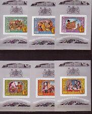 GUINE - BISSAU 1972: 6 Blocks 25 Jahre Königin Elisabeth, postfrisch, s. Bilder
