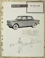 FIAT 1300 & 1500 GIRLING 1961 Car Maintenance Installation Brakes Data Guide