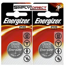 2 x Energizer CR2430 3V Lithium Coin Cell Battery 2430 DL2430 K2430L ECR2430 UK