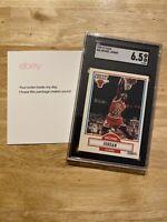 Michael Jordan SGC 6.5 NM 1990 Fleer #26 Last Dance INVEST VELVETY Smooth Card