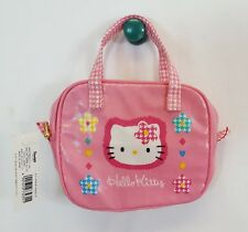 Rare 1997 Sanrio Hello Kitty Pink All Decked In Checks Small Polyvinyl Purse New
