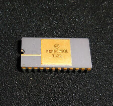 RARE! Motorola MCM6675OL Application Character Generator GOLD Plated 1978