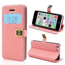 Tasche Schutz Hülle Flip Case Cover Etui für Iphone 5C SLIM ROSA GTR1