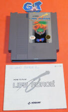 LIFE FORCE W/ Manual Nintendo NES Game Cartridge: Cleaned/ Tested