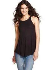 1624a1de262e2 Women s Mossimo Black Tank Top Shirt Swing Ribbed XS S M Soft Spandex S