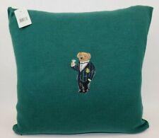 d854d9b20 NWT  215 POLO RALPH LAUREN 18x18 Green Embroidered BEAR Knit ALSTEN Down  Pillow