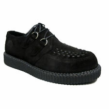 Nevermind Black Suede Haley Single Sole Creeper Shoes UK 12