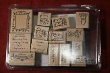 Framed Greetings Wood Stamp Set, Stampin Up