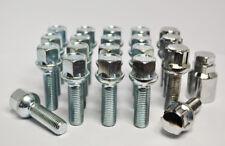 M12 x 1.5 17mm Hex 35mm thread radius seat alloy wheel bolts x 20 inc lockers