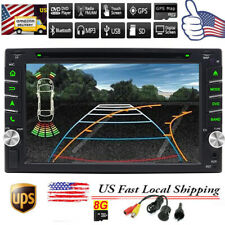 "6.2"" HD Double 2Din Car Stereo DVD Player GPS Navigation Bluetooth+Backup Camera"