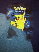 POKEMON 2000 GOTTA CATCH 'EM All (PIKACHU)MENS NINTENDO GRAPHIC BLUE T-SHIRT