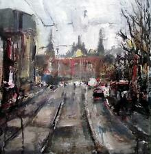 Amsterdam Study 3  Original Impressionist Mixed Media Oil Painting Paul Mitchell
