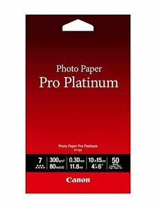 Australia Canon Photo Paper Pro Platinum, 4 x 6 Inches, 50 Sheets (2768B014)