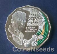 2017 , 50 Cent Coin Sir Jack Brabham Formula 1 World Champion Australian 50c UNC