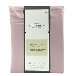 Threshold Performance Sheet Set 400 Thread Count Twin Rose Marble