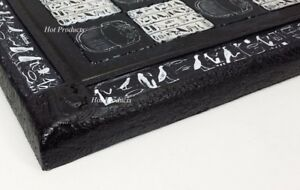 "16"" EGYPTIAN HIEROGLYPHIC CHESS BOARD Black and White"
