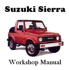 Suzuki Sierra Sj413 Factory Workshop Service Repair Manual