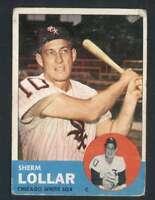 1963 Topps #118 Sherm Lollar VG/VGEX White Sox 31922