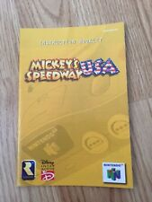 Mickey's USA Speedway Instruction Manual Only N64 Nintendo 64
