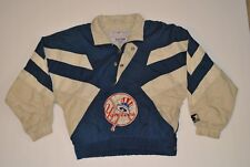 Genuine Merchandise Yankees Vtg 90's Sz S Youth Boys Blue/Tan Pullover Windbreak
