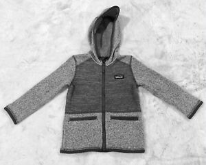 Boy's PATAGONIA Better Sweater® Hooded Jacket Size 3T Heather Gray