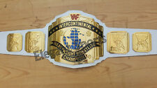 WWF 4mm White Intercontinental Wrestling Championship Adult Size Replica Belt