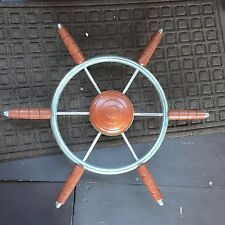 """Chris Craft Cabin Helm Ship Steering Wheel """"see My Other Items For More Parts"""""""