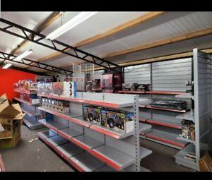 Shop shelving gondola  double sided