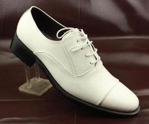 Mens Cap Toe Business Lace Up Formal Shoes Faux Leather Dress Shoes New