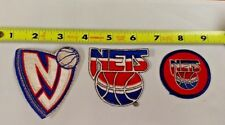 NBA NEW JERSEY NETS LOT OF 3  IRON ON PATCHES NICE !