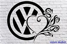 VOLKWAGEN DUB Funny Car Window Bumper VW Beetle BUG VDUB Vinyl Sponsor Decals