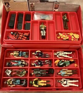 Vintage GI Joe Lot and Case (Figures With Original Accessories, File Cards)