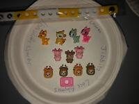 3D Cute Reindeer Lot Of 11 + Bracelet+lace Adapter Crocs Shoe Charms,Jibbitz