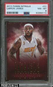 2013-14 Panini Intrigue #31 Lebron James Miami Heat PSA 8 NM-MT