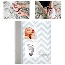 Pearhead Baby Memory Keepsake Book Girl Boy Footprint Touch Pad Grey