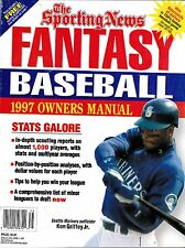 THE SPORTING NEWS 1997 FANTASY BASEBALL OWNERS MANUAL MARINERS GRIFFEY ON COVER