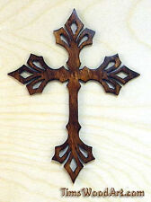 Trinity Cross, Baltic Birch Wood Cross, for Wall Hanging or Ornament, Item S2-11