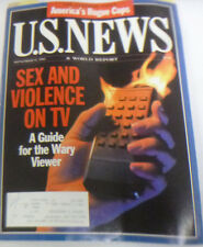 U.S. News Magazine Sex And Violence On TV September 1995 043014R